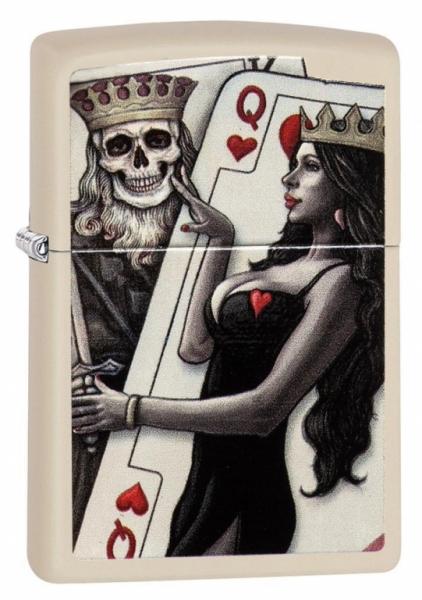 Zapalovač Zippo Skull King and Queen Beauty 26008