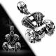 Přívěšek z chirurgické oceli - Skull Motorcycle Engine PCS465T